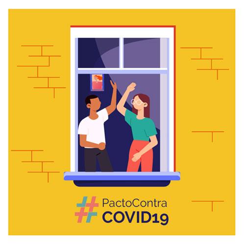 Firma el #PactoContraCOVID19 , juntos haremos frente contra la amenaza