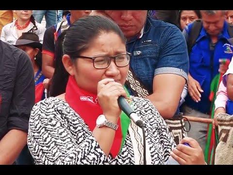Cristina Bautista Taquinás Mujer indígena Nasa, Trabajadora Social, lideresa del norte del Cauca, Colombia1